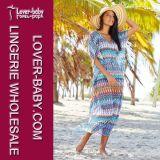 Платье пляжа Kaftan печати макси (L51299)
