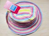 [كستوميز] ليّنة دلو شريط [سون] قبّعة مع زهرة لأنّ فصل صيف