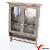 ガラスドア型のフランスのハンドメイドの小さい吊り戸棚