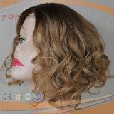 Rubio Color de cabello humano corta el pelo rizado