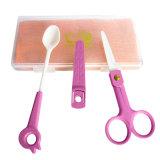 Керамические товары младенца для установленных ножниц ложки и еды
