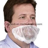 두 배 귀 루프를 가진 백색 처분할 수 있는 PP 수염 덮개