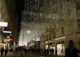 As luzes de Natal do diodo emissor de luz dirigem a decoração da cortina