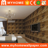 Papier de mur de papier peint de PVC de salle de séjour de fond de TV neuf