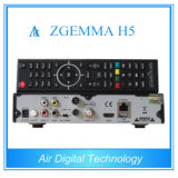 T2 DVC C Zgemma H5 del decodificador DVB S2 DVB de Hevc del equipo de la difusión