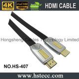 Flaches HDMI Kabel des Hochgeschwindigkeitsmetallfür Blu Ray-Spieler, Fernsehen 3D mit Ethernet