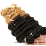 "20 "" 인간적인 Virgin Hair Extension Ombre 2tone Wave Hair"