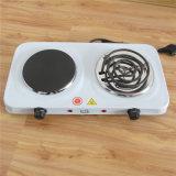 Double cuiseur solide de cuisine de Hotplate de bobine