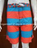 Shorts contínuos da placa do Beachwear da tela 4way da tira para o homem