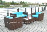 Mobília do frame do Rattan & do alumínio do PE, sofá ao ar livre do Rattan
