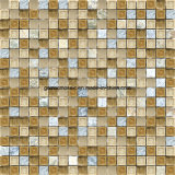 자연적인 Ice Crackle Ceramic & Culturte Stone를 가진 Glass Tile Mosaic