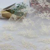 Garniture nuptiale de tissu de lacet de broderie en nylon pour la robe de mariage