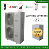 Evi Tech. -25c Winter Floor Heating 100 ~ 350sq Meter Room 12kw / 19kw / 356kw Auto-Defrost High Cop Split Air Fonte Bombas de calor Unidades