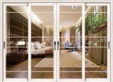 Porte verre-métal coulissante en aluminium de sûreté de Guangdong