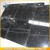 Telhas de mármore diretas de Nero Marquina da fábrica