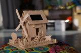Дом фермы подарка интеллектуальная DIY солнечной силы деревянная ягнится солнечная игрушка 064