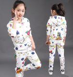 Camisola Hoodies do terno de trilha da forma do lazer na roupa das crianças para o desgaste Swg-127 do esporte