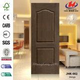 Peau de porte moulée par placage moderne du chêne rouge HDF/MDF de texture