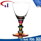 Cálice colorido branco Handmade do vidro de vinho (CHG8008)