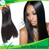 extensão não processada do cabelo humano de Remy do cabelo do Virgin de Weavon da classe 7A
