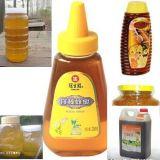 Linha de produção de enchimento do mel automático com Lavar-Encher-Tampar-Selagem do frasco