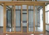 Aleación de aluminio Horizonal que resbala la ventana de cristal del marco