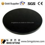 Partie supérieure du comptoir de granit noir absolu fait sur commande de la Chine et dessus ronds de Tableau