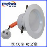 Aluminium DEL Downlight du plafond DEL SMD de la conformité 8W 12W 4inch d'UL