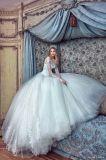 Поезд собора втулки 0007 платьев венчания Vestido De Novias Bridal длинний