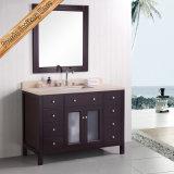 Vaidade européia do banheiro do estilo do projeto da madeira contínua