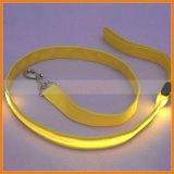Nylon Webbing LED Flash Light Safety Decorative Dog Leash洗濯でき、Lightweight