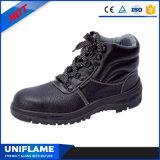 Ботинки безопасности Ufb008 крышки пальца ноги людей кожаный стальные