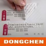 Sticker van het Etiket van het huisdier Tamper-Proof Nietige