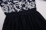 最新の偶然の女性のセクシーな秋の半分の袖のBodyconによって印刷される服