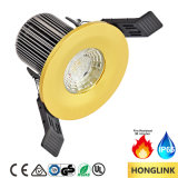 Fuego LED clasificado Downlight del Ce SAA 8W IP65 Dimmable con el bisel cambiable