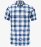 青く短い袖の男の子のワイシャツ