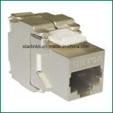 CAT6A FTP Shielded Tooless Keystone Jack 180 Grau