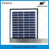 4W 3 PCS 1Wの球根および電話充電器が付いている携帯用太陽ホームシステム