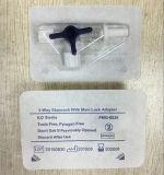 Robinets à trois voies de blocage mâle remplaçable de PVC Luer d'appareils médicaux