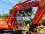 Excavador usado de Doosan 140W del excavador de la rueda