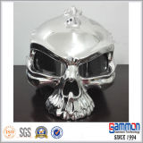 オートバイのライダー(HF302)のための特別で涼しい銀製の頭骨のヘルメット