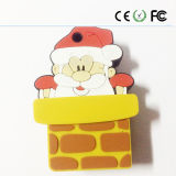 2016 Merry Chirstmas Gift PVC USB Flash Drive (Mais design Escolha)