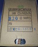 CFR1/4W el 5% resistores de película del carbón de 820 ohmios
