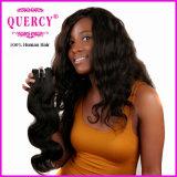 Quercy 머리 자연적인 색깔 Virgin 100%년 바디 파 머리 인간적인 직물 (W-067c)