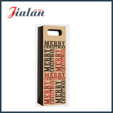 Brown Kraft Paper Merry Christmas Letters Bouteille Gift Paper Bag
