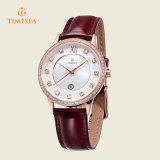 Reloj de la marca de fábrica del acero inoxidable de la manera del cuarzo para las señoras 71130