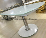 Tabela de jantar de Rotatary prática com vidro Tempered branco 963#