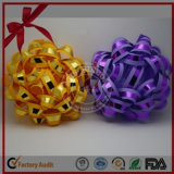 Victor Crafts golden printed Metallic star Bow for poison Packing PP Ribbon star