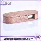 A madeira de mogno creativa feita sob encomenda gira a movimentação do flash do USB