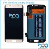 Индикация панелей LCD цифрователя вспомогательного оборудования сотового телефона для края галактики S6 Samsung
